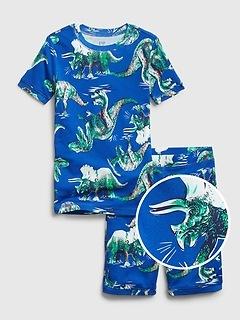 Kids Dinosaur Short PJ Set