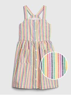 Kids Rainbow Stripe Dress