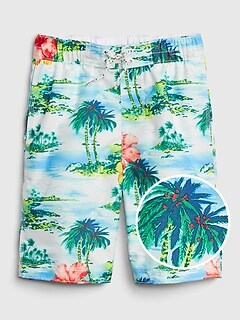 Kids Tropical Board Shorts