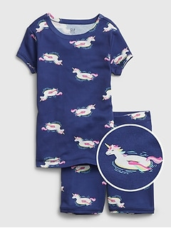 Kids Unicorn Floaty Short PJ Set