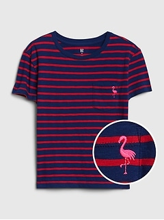 Kids Print Pocket T-Shirt
