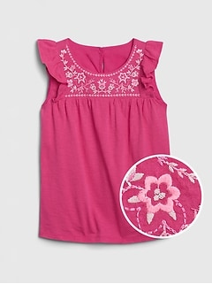 Kid Embroidered Tank Top