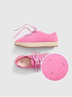 Kids Pink Espadrille Sneakers