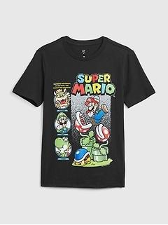Kids Super Mario Graphic T-Shirt