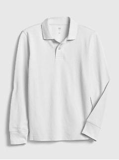 T-shirt polo à manches longues pour enfant