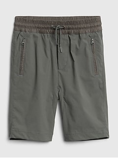 Kids Hybrid Pull-On Shorts with Quick Dry