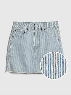 Kids Stripe Denim Skirt