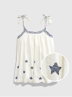 Teen Embroidered Tassel Shirt