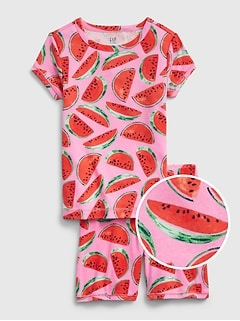 Kids Watermelon Short PJ Set
