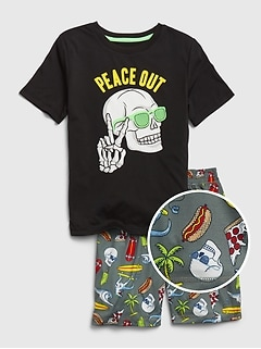 Kids Skull Surf PJ Set