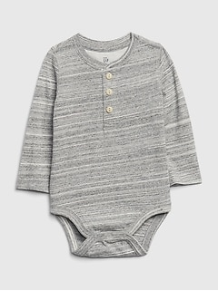 Baby Henley Long Sleeve Bodysuit