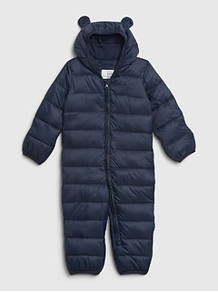 Baby Upcycled Lightweight Bundler Snowsuit