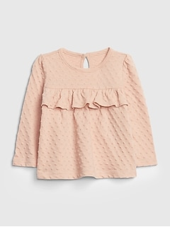 Baby Ruffle Long Sleeve Shirt