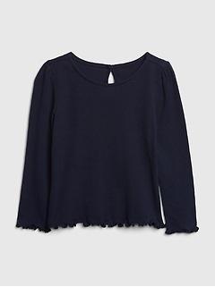 Chemise à manches longues côtelée pour enfant