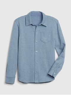 Chemise boutonnée à manches longues pour enfant