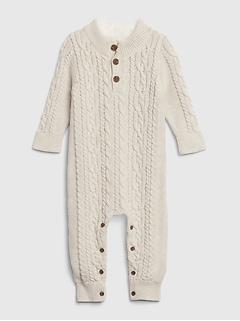 Une-pièce à manches longues en tricot pour bébé