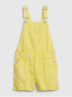 Kids Yellow Denim Shortalls