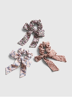 Kids Bow Scrunchies (3-Pack)