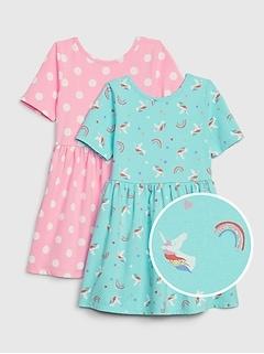 Toddler Skater Dress Set (2-Pack)