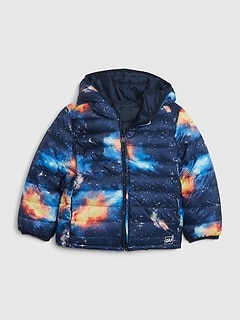 Toddler Upcycled Lightweight Reversible Puffer Jacket