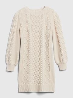 Robe-pull en tricot torsadé pour enfant