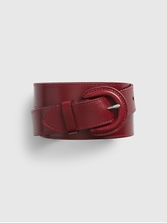Leather Cover Buckle Belt