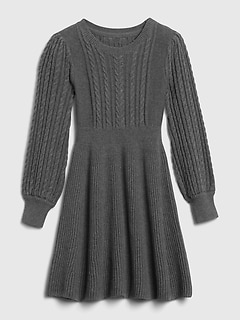 Kids Cable-Knit Sweater Dress