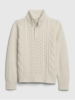 Pull à col montant en tricot torsadé pour enfant