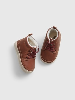 Baby Faux Leather Boots