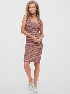 Scoopneck Ribbed Dress