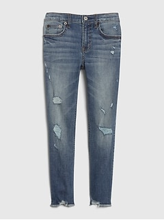 Kids High Rise Slim Ankle Pencil Jeans with Stretch