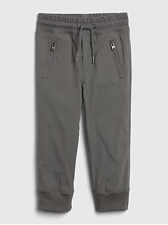 Toddler Lined Hybrid Pull-On Joggers with Stretch