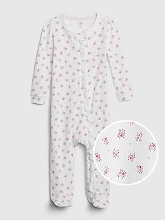 Une-pièce à fleurs Premiers essentiels pour bébé