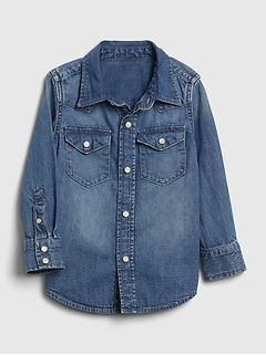 Toddler Denim Western Shirt