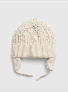 Tuque cache-oreilles en tricot pour bébé
