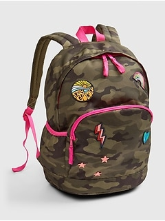 Kids Camo Patch Senior Backpack