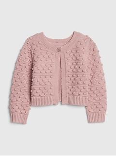 Pull cardigan en tricot mouche pour bébé