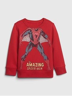 Pull de sport babyGap ras du cou à motif de Spiderman de Marvel