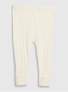 Leggings en tricot torsadé pour bébé