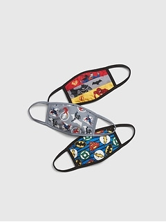 Kids Justice League Face Mask (3-Pack)