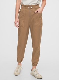 High Rise Utility Cargo Joggers