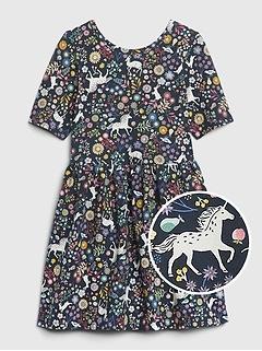 Toddler Unicorn Skater Dress