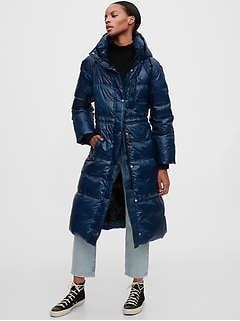 Upcycled Long Puffer Coat