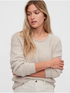 Relaxed Rollneck Shaker Sweater