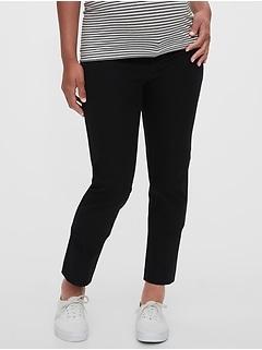 Maternity Inset Panel Slim Ankle Pants