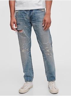 1969 Destructed Slim Taper Selvedge Jeans