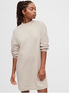 Crewneck T-Shirt Dress in French Terry