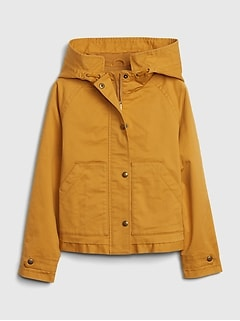 Kids Cropped Utility Jacket with Stretch