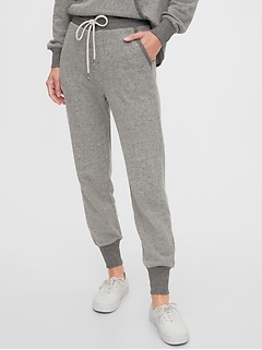 Faux Tweed Joggers