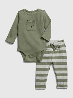 Ensemble avec cache-couche et pantalon pour bébé